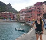 Kat Shindledecker, a senior management major, tours Cinque Terre in Vernazza, Italy, as part of studying abroad in Rome this semester.