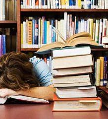 Student Falling Asleep While Cramming