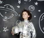 Boy dressed as an astronaut
