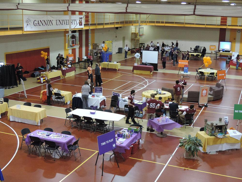 Wellness takes over Gannon with seven vendor-filled zones