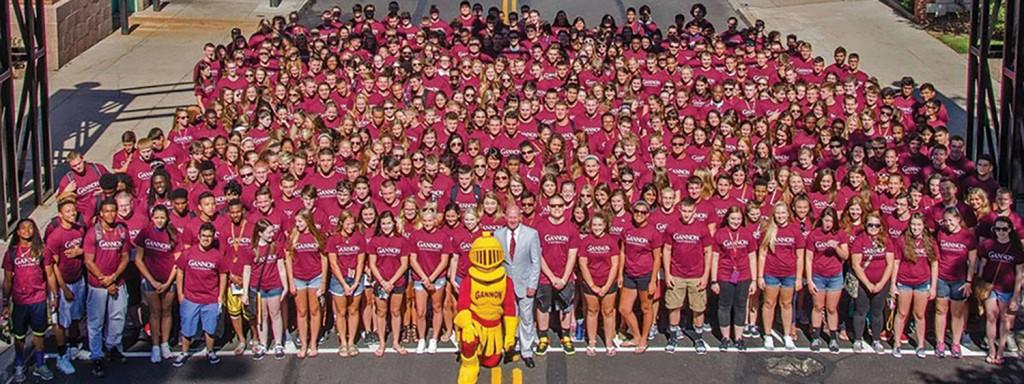 Gannon+welcomes+new+freshman+class+to+campus