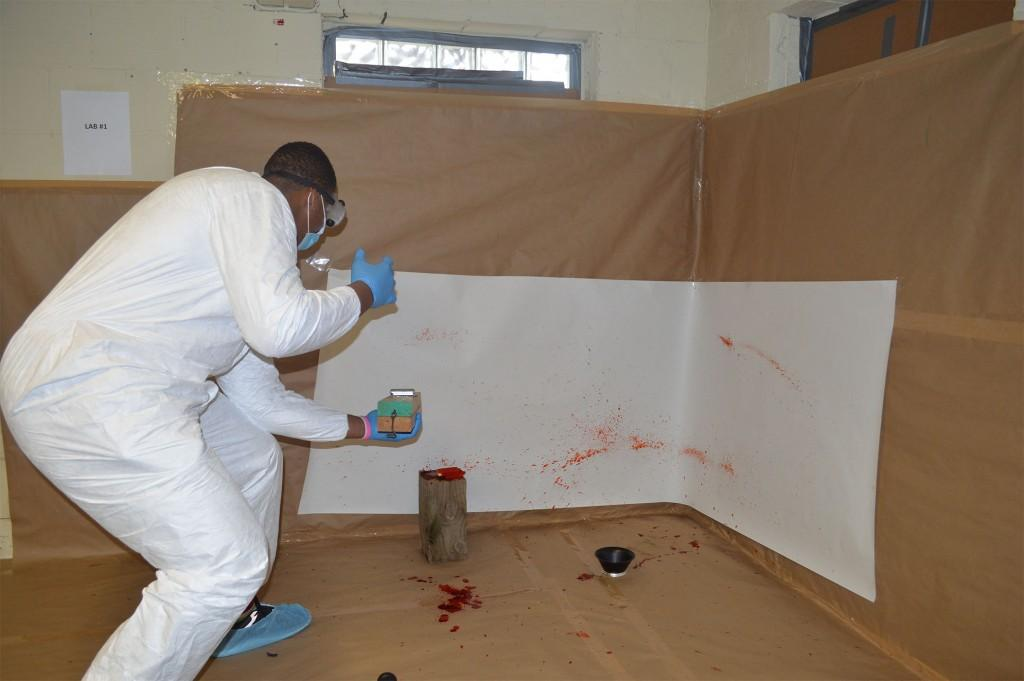 Students recreate crime scenes, mock trial
