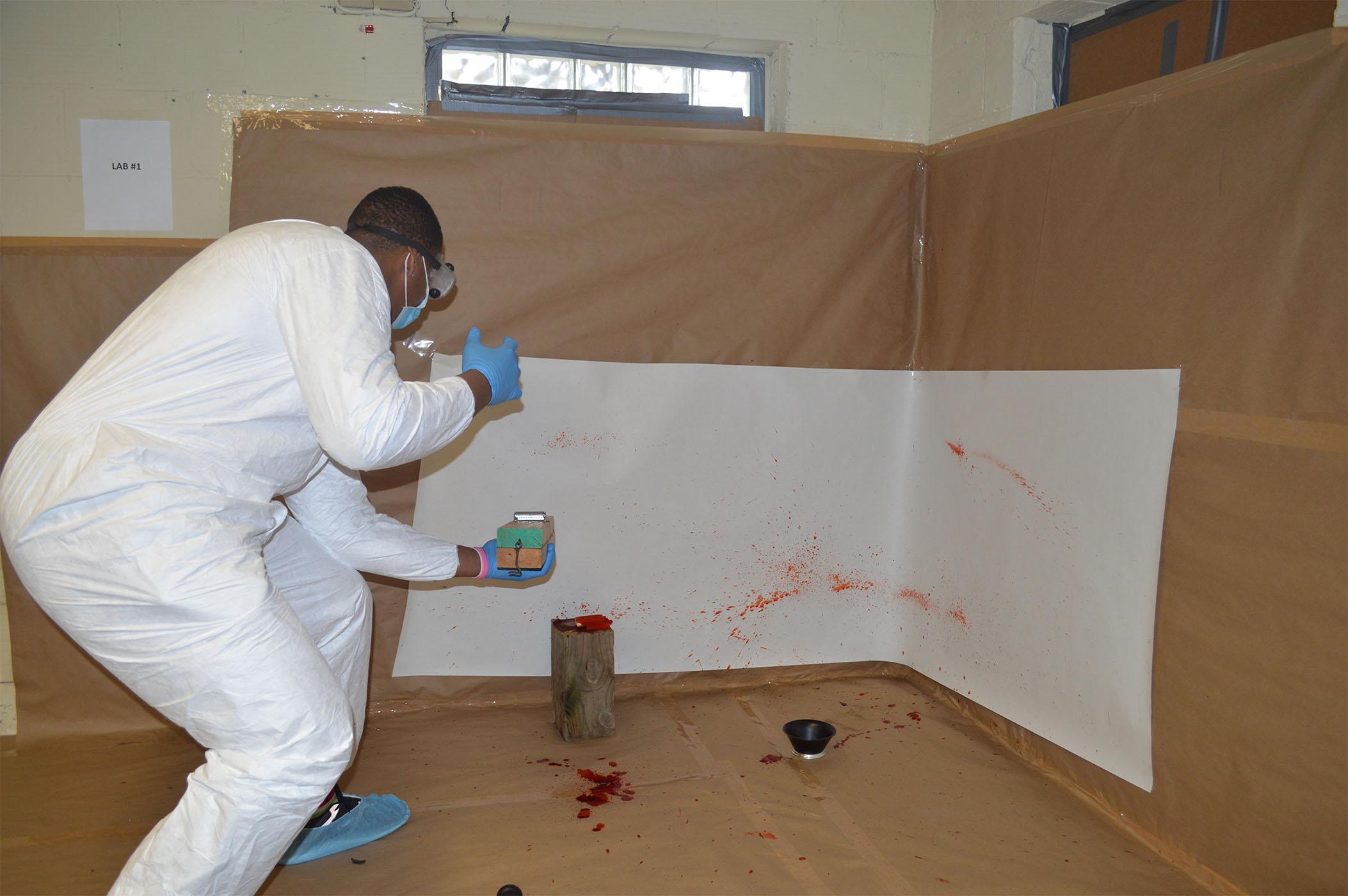 Students recreate crime scenes, mock trial