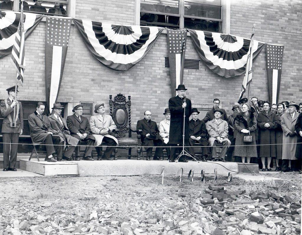 Beyer Hall groundbreaking: 1960