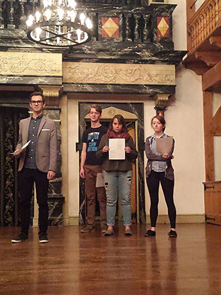 Gannon students participate in trip to American Shakespeare Center