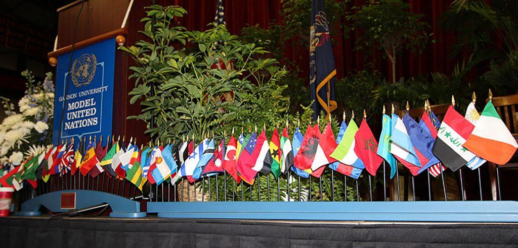 Gannon holds Model U.N. event