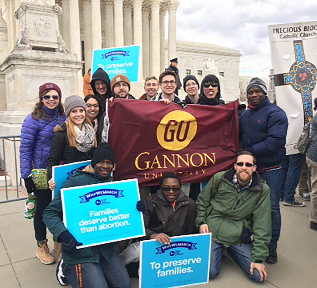 Finding+God+on+Gannon%27s+campus%3A+Students+travel+to+D.C.+for+44th+annual+March+for+Life