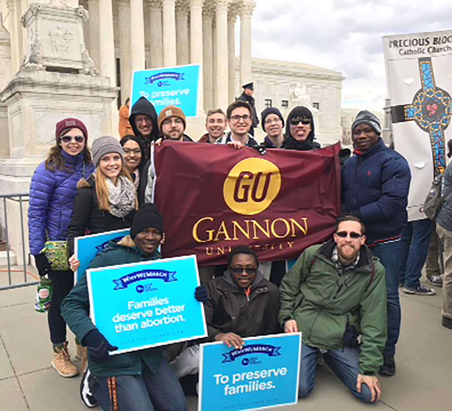 Finding God on Gannon's campus: Students travel to D.C. for 44th annual March for Life