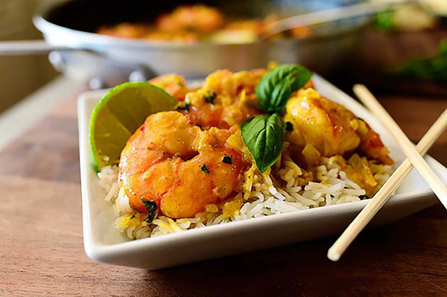 Coconut curry shrimp: Study-break snack