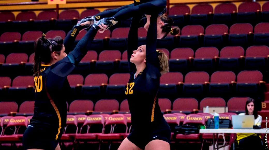 Gannon acrobatics tumbles from east to west