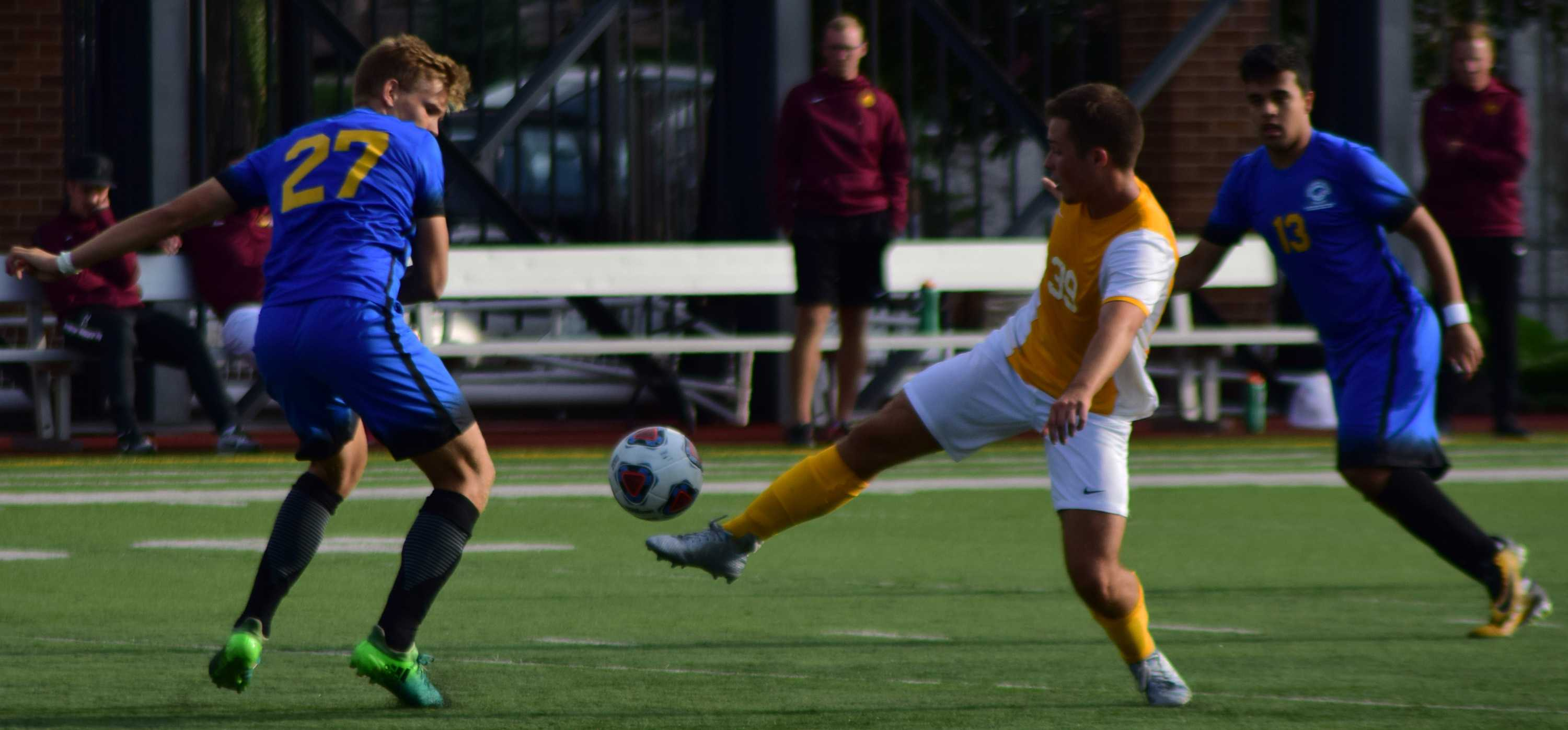Men's soccer falls short in first two games