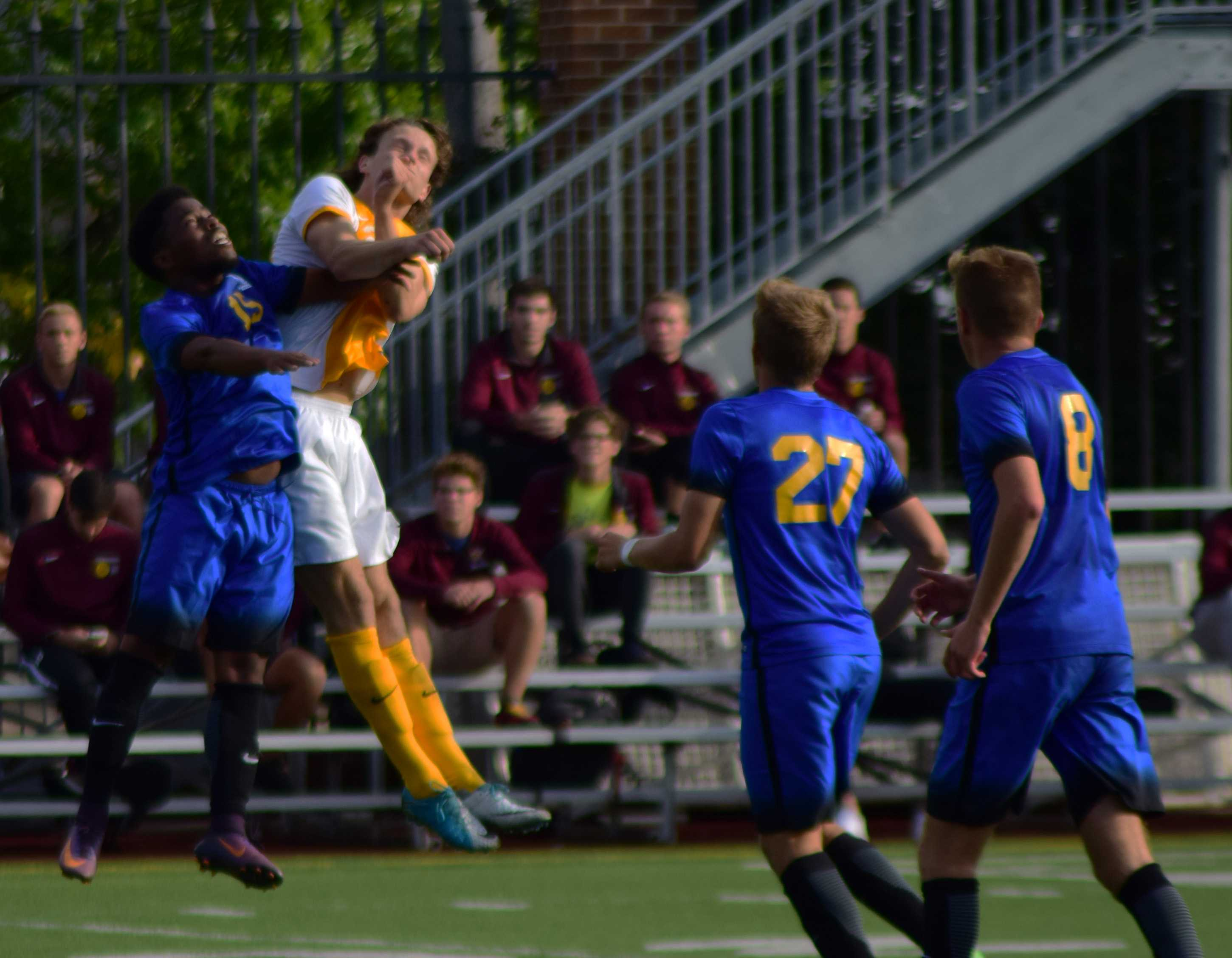 Men's soccer scores first three wins