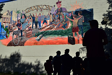 AJ's Way mural celebrated by students, faculty
