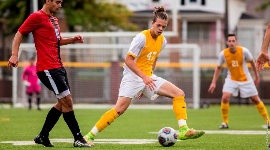 Men's soccer ends win streak to West Chester, Mercyhurst