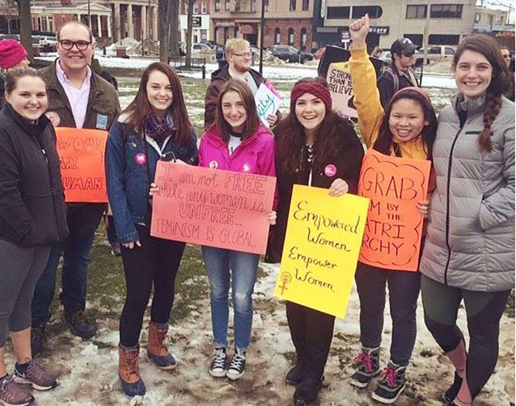 Student reflects on Erie Women's March