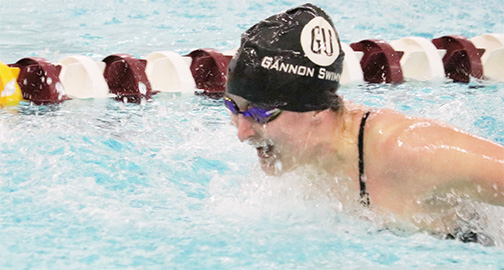 Swimming and diving falls to Canisius on Senior Day