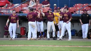 Baseball wins five, loses three in eight games over the weekend