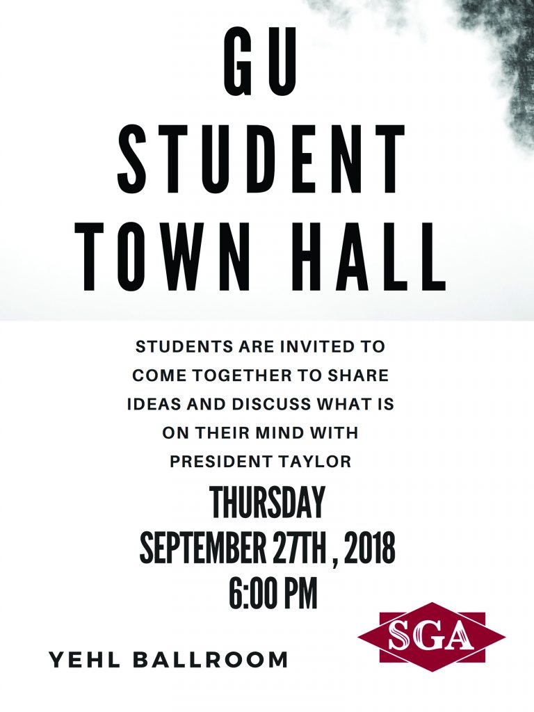 SGA to host first student town hall of fall