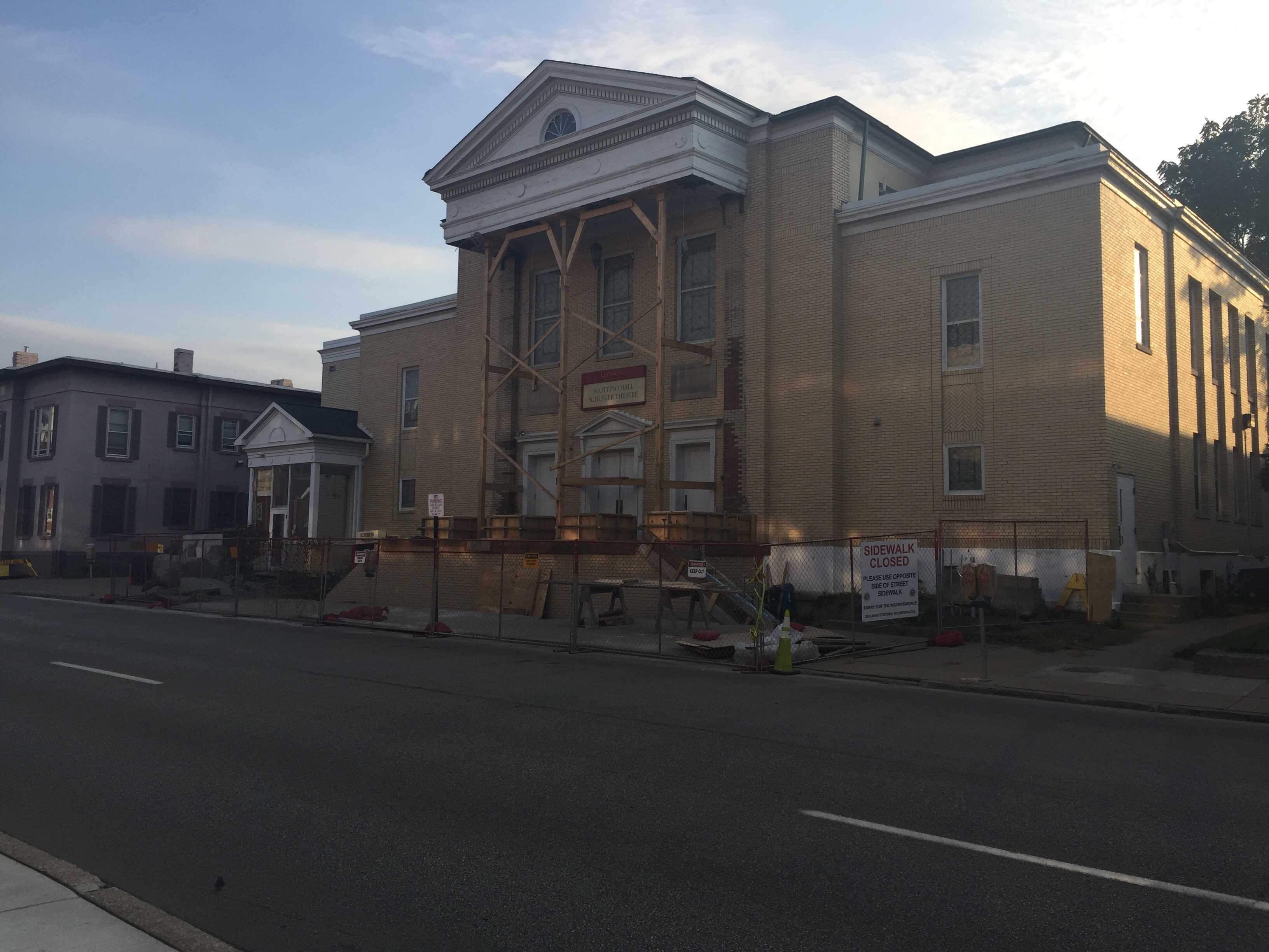 Schuster Theatre construction explained