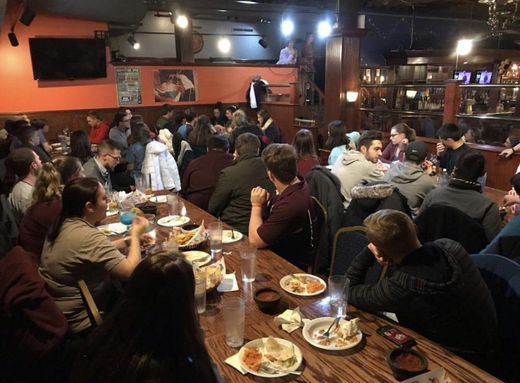 Campus Ministry hosts events at local restaurants