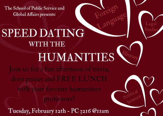 Public Service and Global Affairs to hold 'Speed Dating'