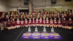 Dance team finishes second
