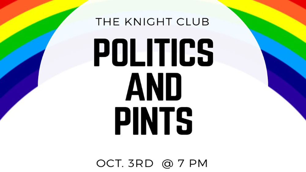 Politics and Pints teams up with LGBTQ Club