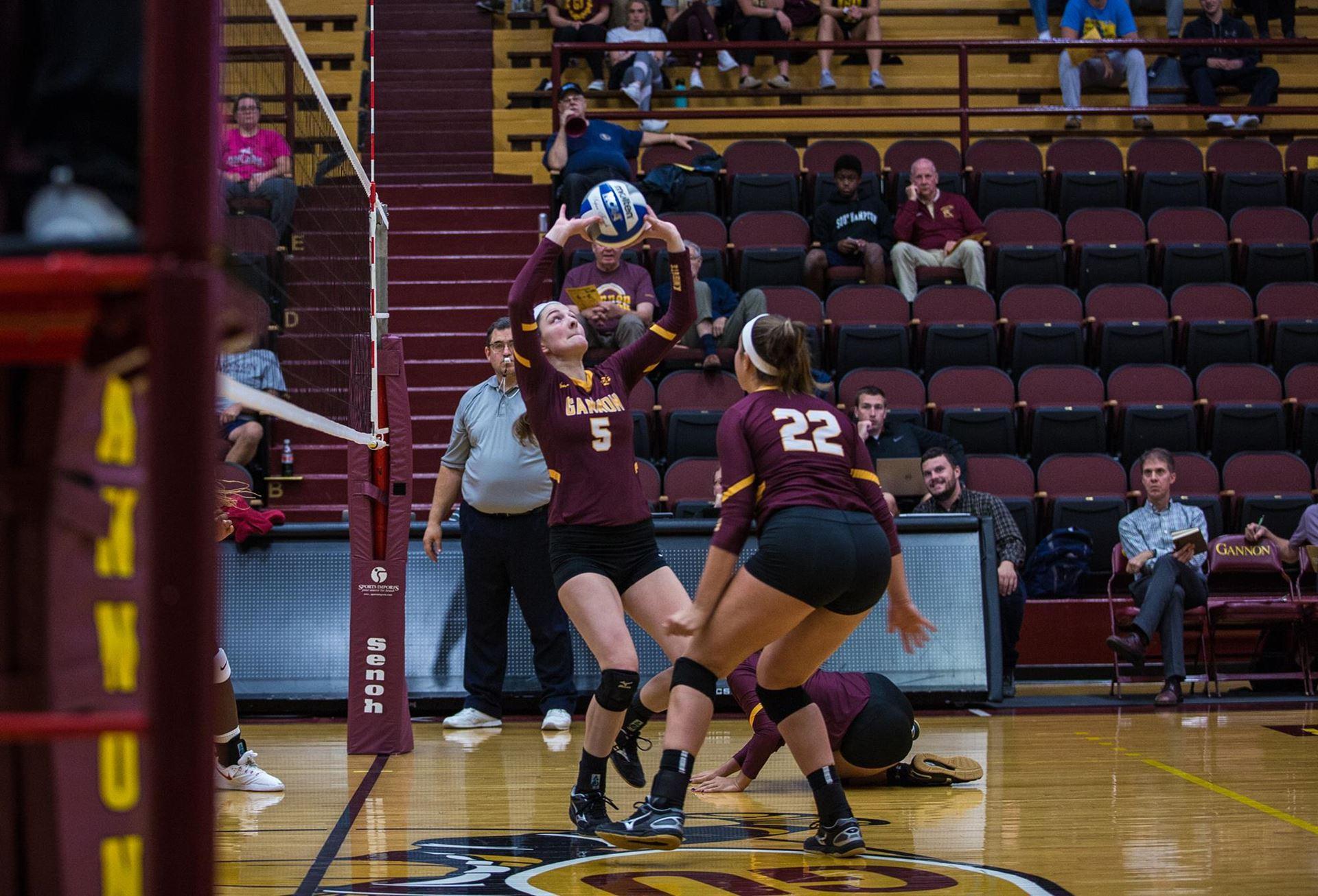 Gannon women's volleyball posts multiple wins over fall break