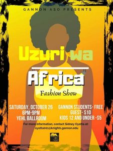 African Student Organization to host second annual fashion show