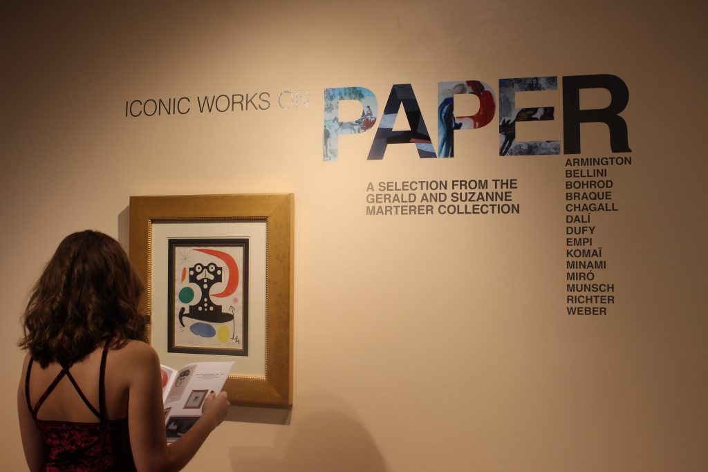 Schuster Gallery hosts 'Iconic Works on Paper'