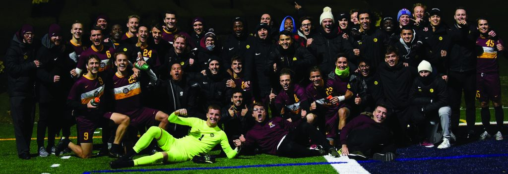 Men's soccer takes 16-1 record into PSAC tourney