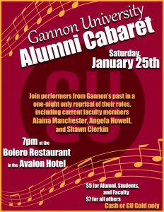 Alumni cabaret to spotlight familiar Gannon faces