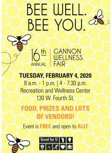 Gannon hosts 16th Annual Wellness Fair