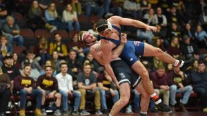 Men's wrestling team rolls past Shippensburg, 40-6