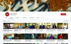 Students explore Gannon's YouTube channel