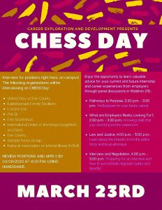 CHESS DAY offers opportunities for interviews, internships