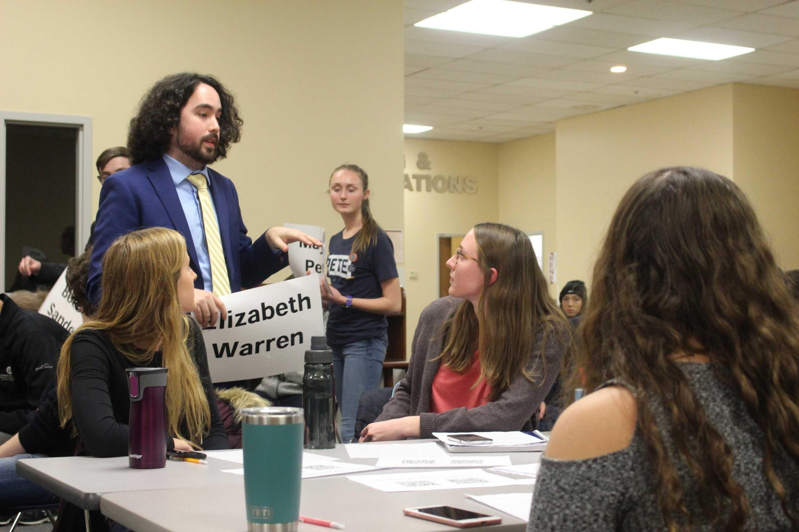 Iowa caucus simulation educates students