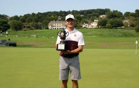 Sophomore Connor Bennink places first at the Malone-Glenmoor Invitational Sept. 14-15.