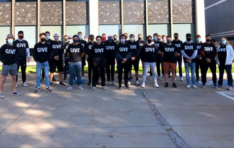 Members of the fraternity Pi Kappa Alpha, also known as Pike, participate in service on GIVE Day, one of the events Greek Life organizations didn't have to adapt much to fit pandemic guidelines.