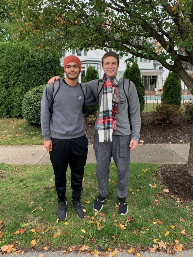 Gannon University students Brandon Boyce and Nick Carneval walked 36 miles to North East and back to generate support and funds for the DefIANt Scholarship. This scholarship makes higher education more accessible for disabled students.