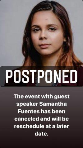 UPDATE: Samantha Fuentes event postponed