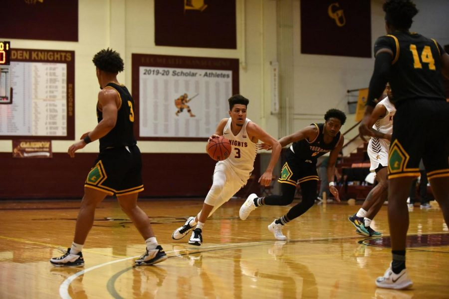 Gannon's Ike Herster scored 15 points in the Knights' first win of the season on Jan. 12. against Kentucky State. Gannon will play their next game against D'Youville on Thursday.