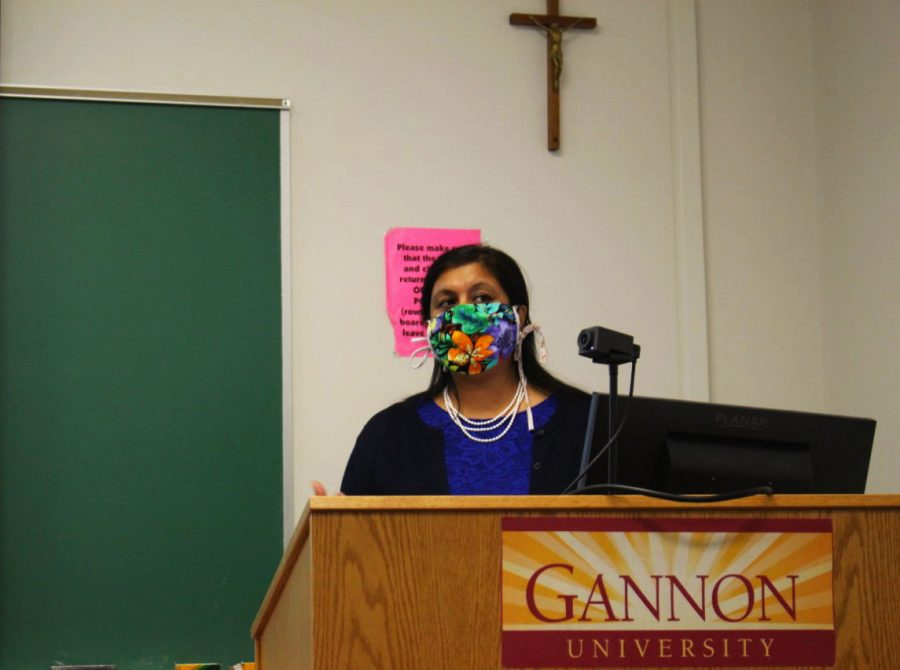 Anjali Sahay, Ph.D., has worked at Gannon since 2008. An Indian immigrant, she emphasizes the importance of focusing on the relations between countries, as well as how the government works both within countries and between them. Sahay earned her Ph.D. in international studies from Old Dominion University and has been featured in a number of significant publications, her most proud being TIME Magazine for the 2020 election.
