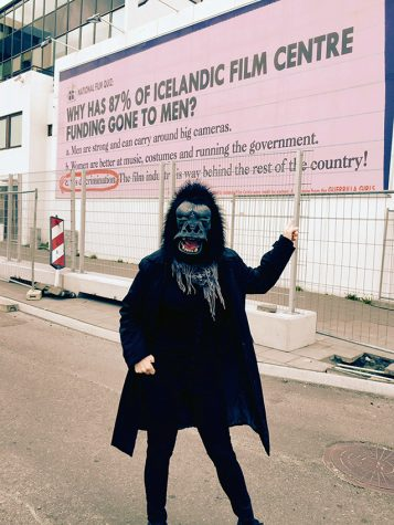 Copyright  © Guerrilla girls, courtesy guerillagirls.com  The Guerilla Girls are a feminist art activism group best known for their 1989 Metropolitan Museum advertisement (shown above) featuring statistics of women's artwork in the museum.