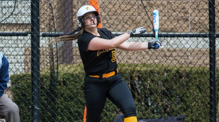 Kaity Stocker is tied for the Gannon softball home run record with 28.