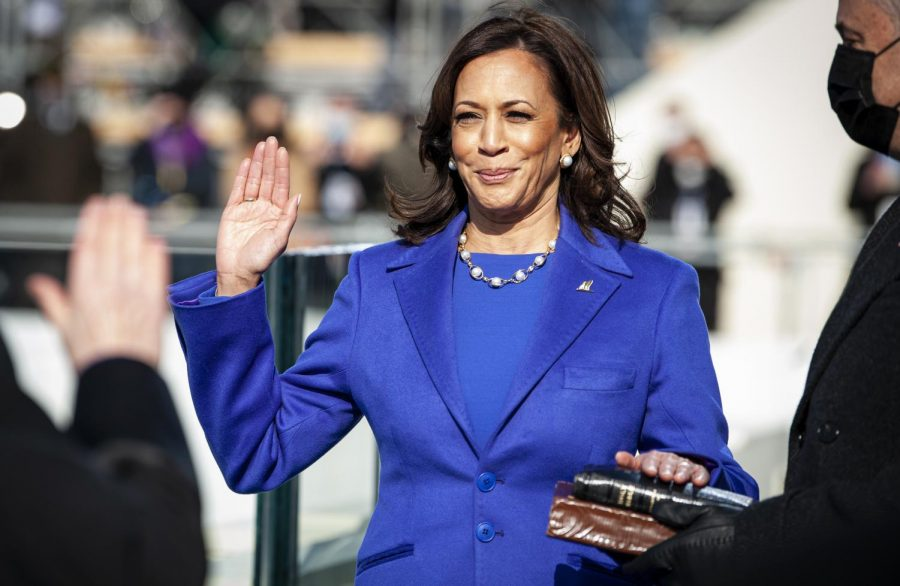 Kamala+Harris+is+sworn+in+on+Jan.+20+as+the+first+woman%2C+Indian+American+and+Black+American+vice+president+in+the+history+of+the+United+States.