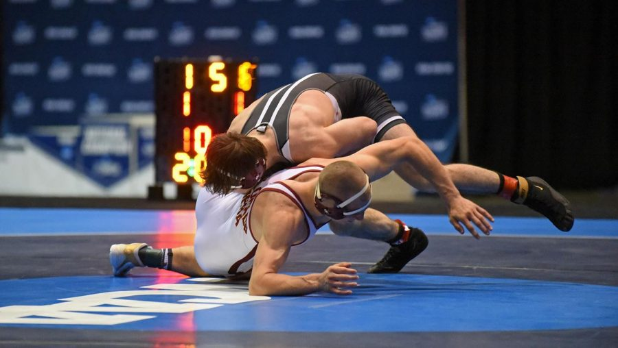 Gannon University's Alex Farenchak finished second in the 165-pound weight class at the NCAA Division II National Championships Saturday night. The Knights finished in ninth place as a team.