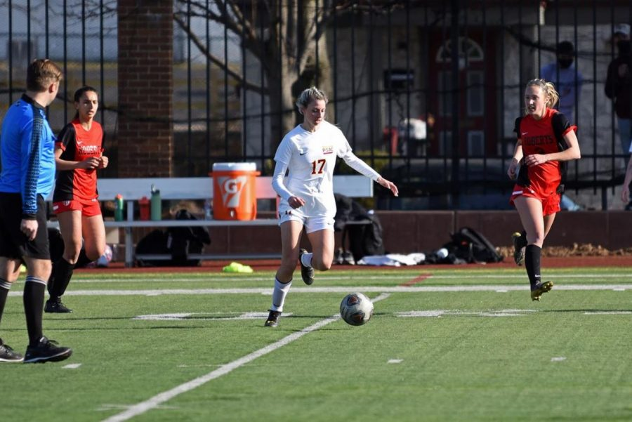 Gannon's women's soccer team beat Slippery Rock, 3-2, for their first regular-season victory in 501 days.
