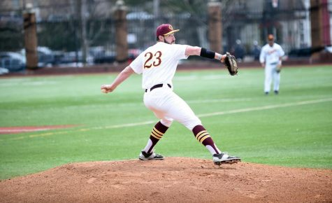 Gannon University pitcher Eric Sapp had eight strikeouts in a 7-3 win over Slippery Rock Monday.
