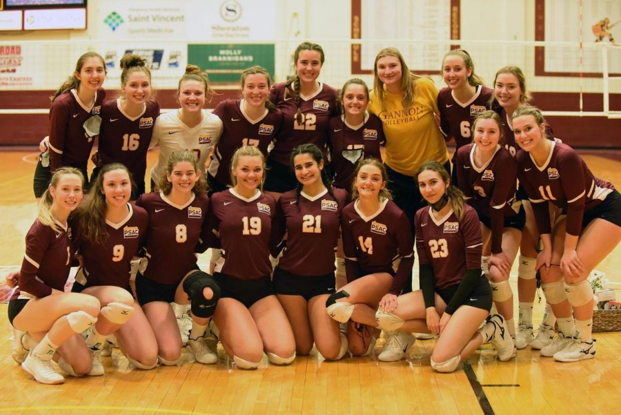 Gannon's volleyball team finished a perfect 16-0 after defeating Carnegie Mellon, 3-1, Saturday.